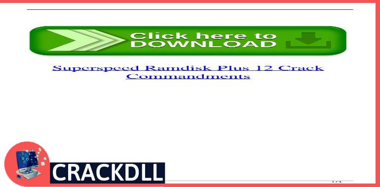 SuperSpeed RamDisk Plus 12 keygen